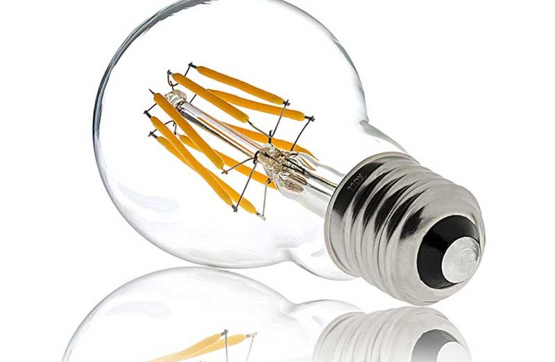 Dimmable Filament LED Globe Bulbs 8w - 1