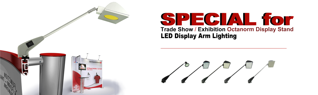 led octanorm display ligthing for trade show / exhibition display booth application