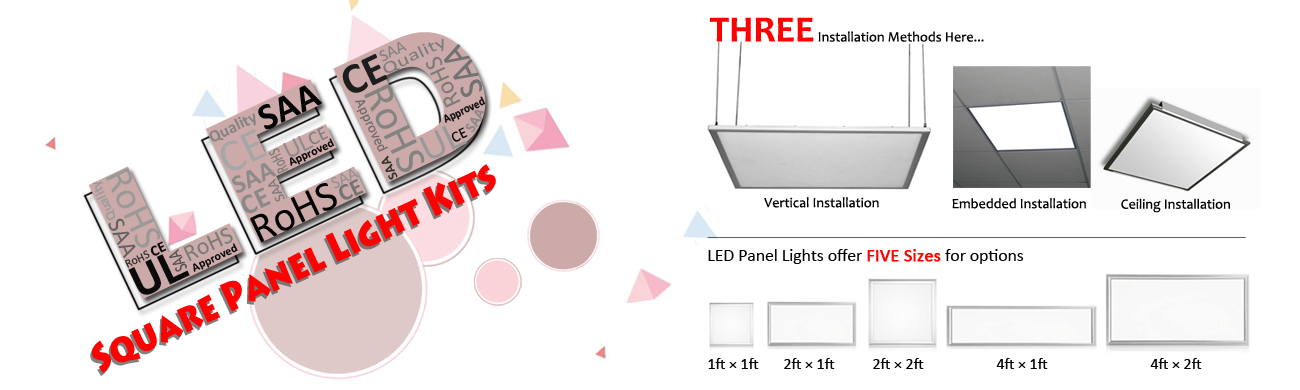 led panel light series banner