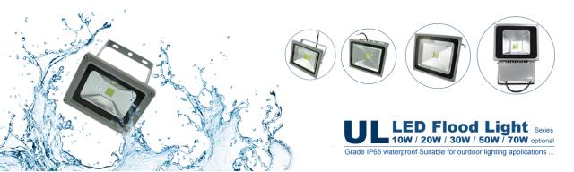 ul led flood light waterproof outdoor lighting