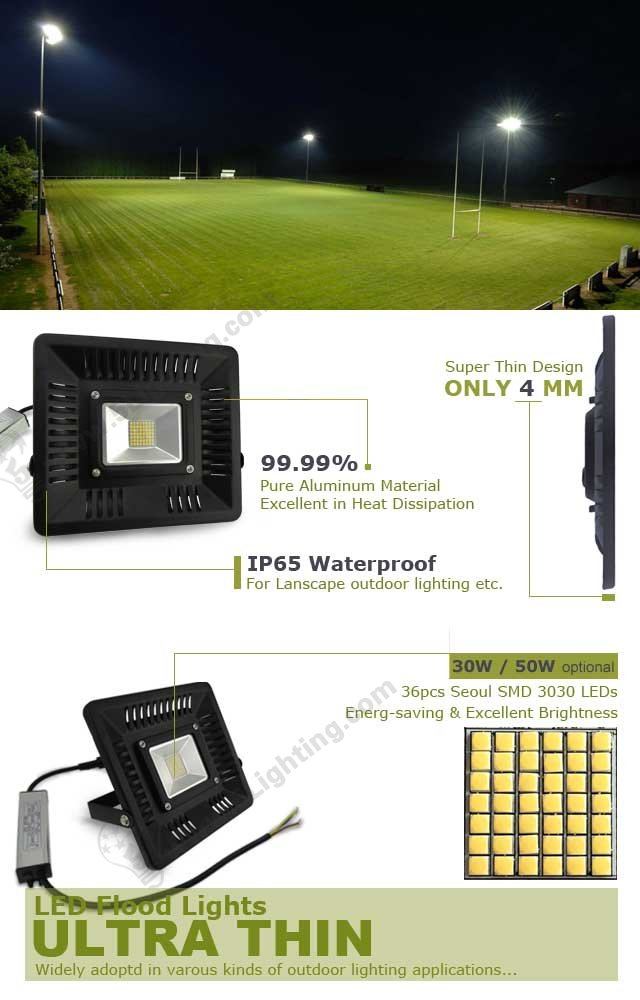 ultra thin led flood lights outdoor lighting waterproof