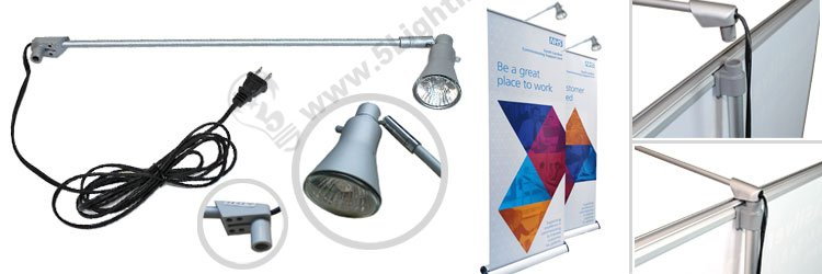led banner stand lights