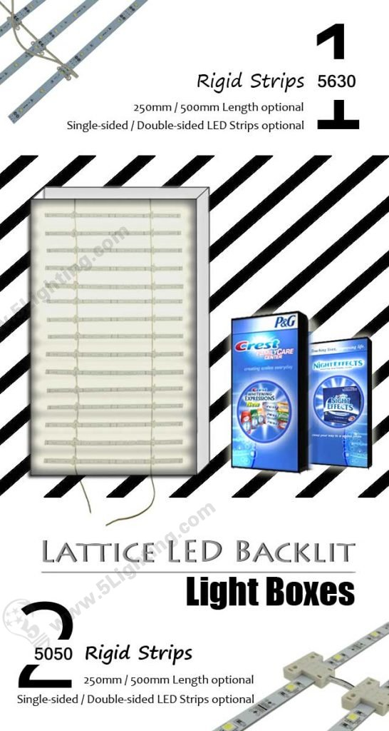 Light Boxes LED Lattice Backlight