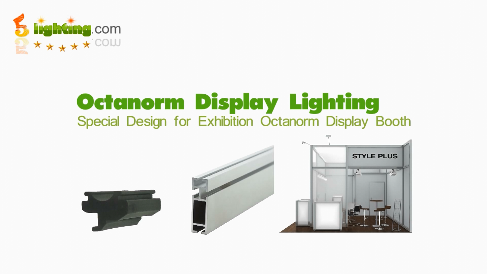 led display lighting for octanorm system