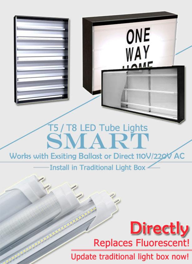 smart compatible t8 / t5 led tubes