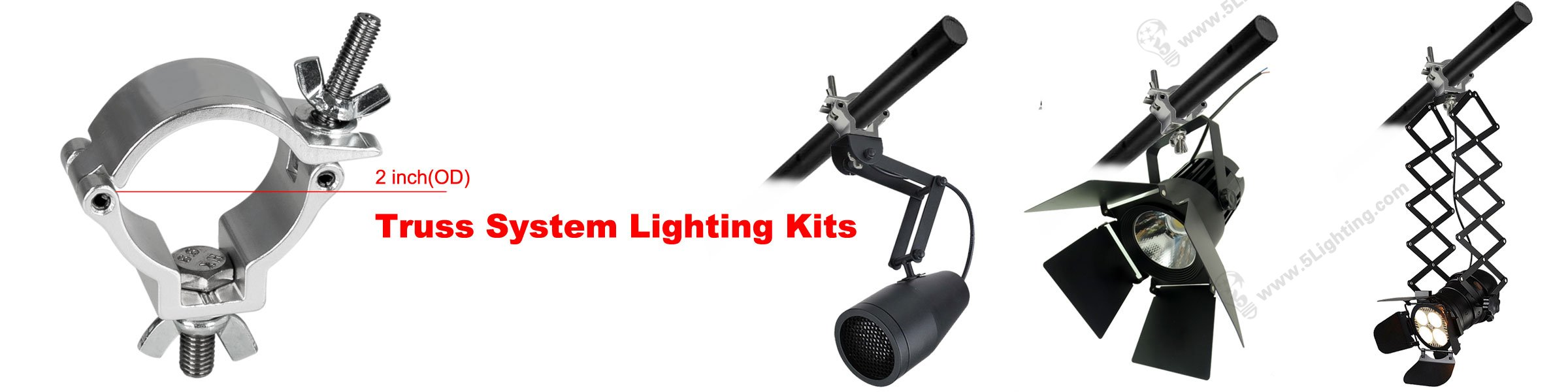Truss system lighting kits