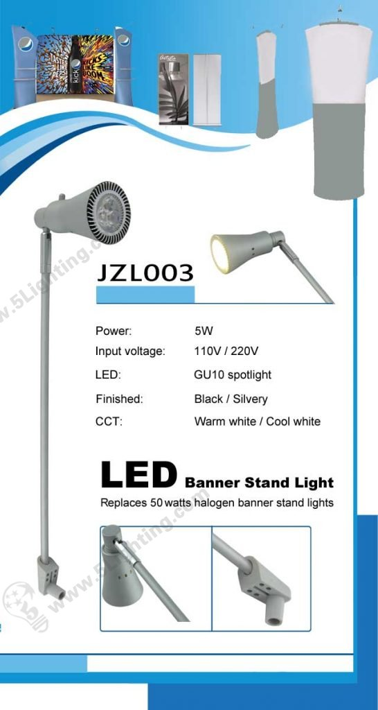 Roll up banner stand led display light JZL003