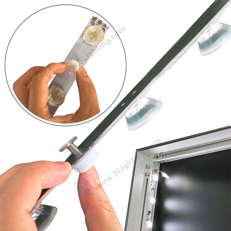 Edge Lit LED Modules - 300mm - installation