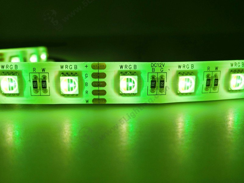 RGBW Strip Lights Green Color