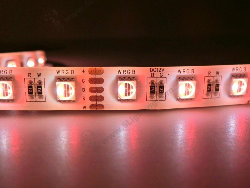 RGBW Strip Lights Red Color