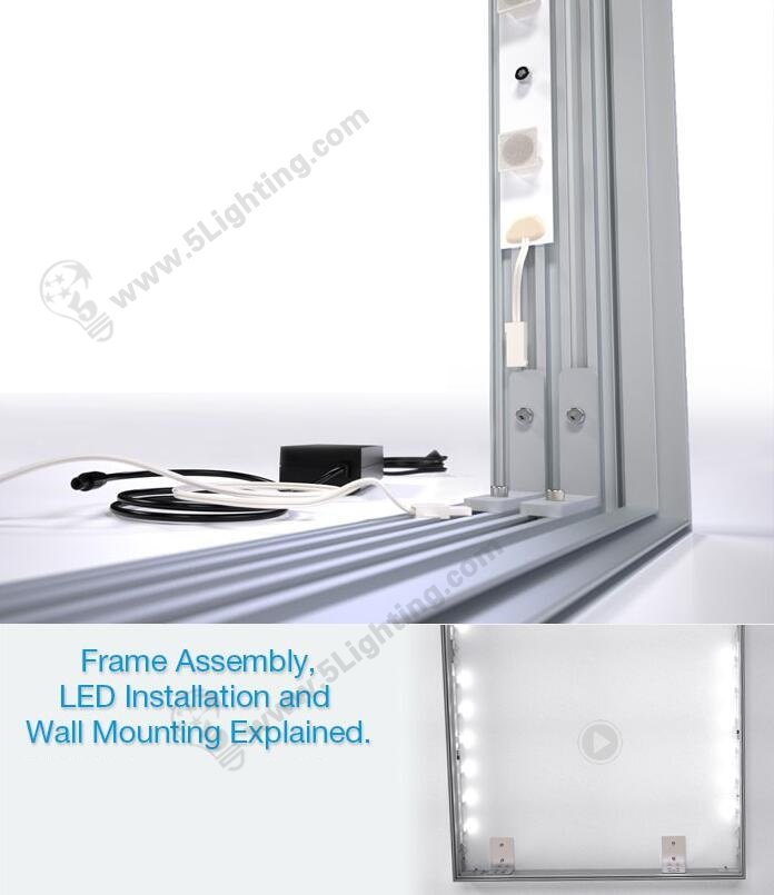 edge lit led modules for light box connection paralleled array
