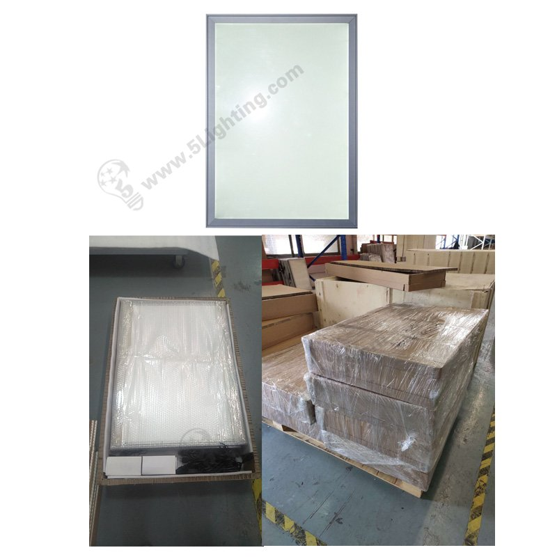 aluminum slim led light box snap frame, carton packing