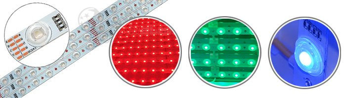 RGB LED Lattice Backlighting tv lens rgb