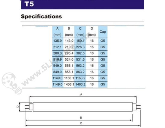 T5 Led Tube Lights And Fixtures Replacement 30 Cm For