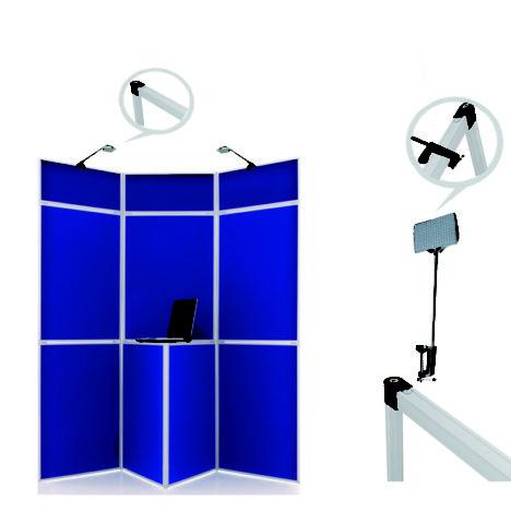 panel display board lights chrome,display lights for folding panels chrome,exhibition lights for panel display chrome