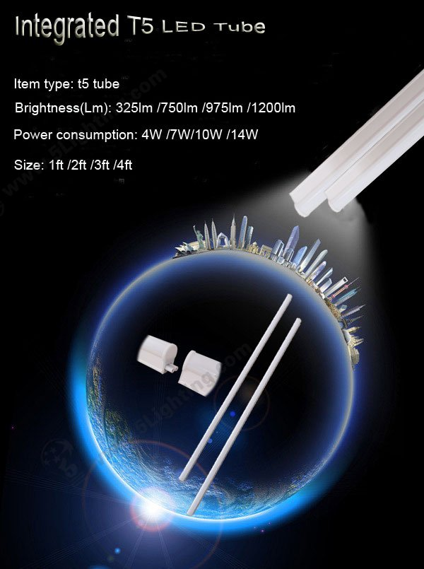 integrated t5 led tube,integrated t5 led light,integrated t5 led lamp tube