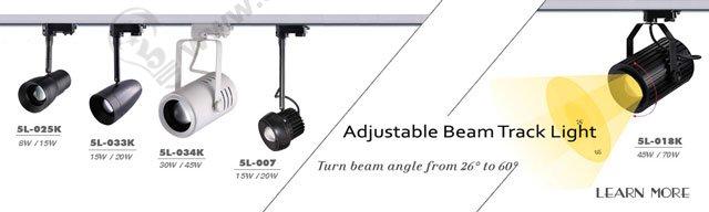 zoom able led track lights , angle adjustable