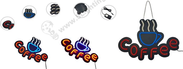 led- neon signs , coffee led neon signage