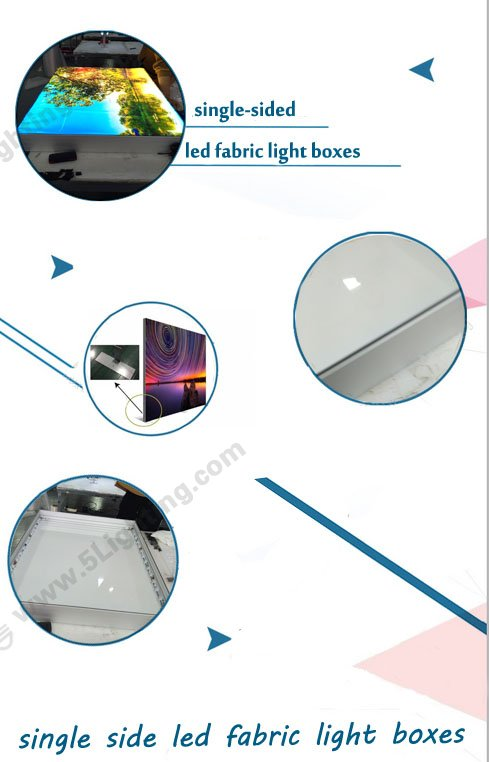 single side led fabric light boxes, single-sided led lighting boxes,led light box display single sided