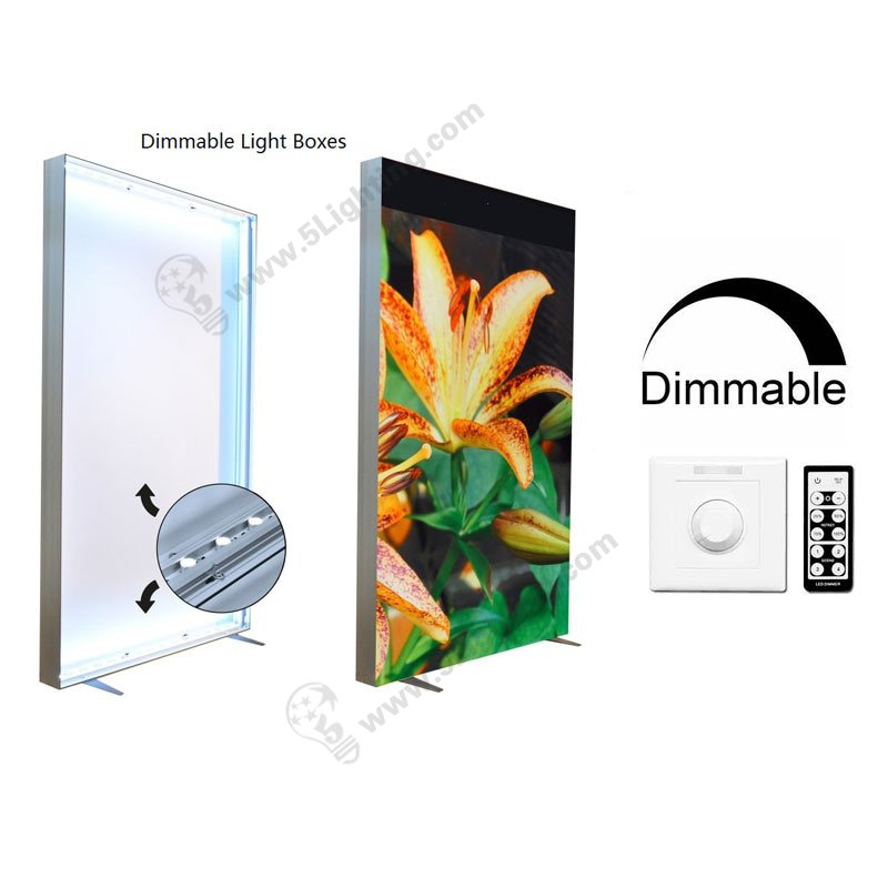 Dimmable LED Fabric Light Boxes Display