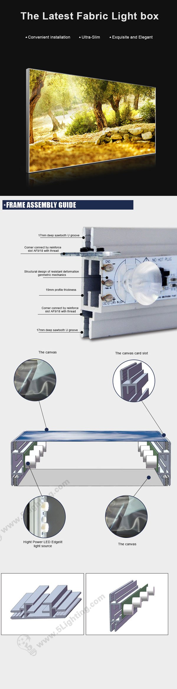 Features of Led Fabric Light Box
