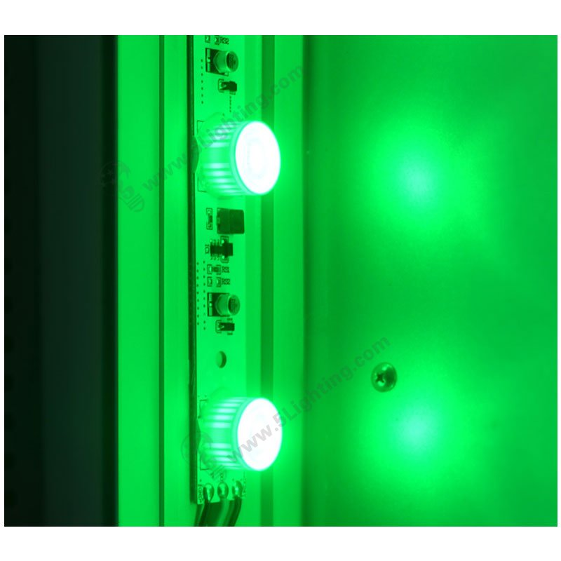 RGB light box edge lights GREEN effect