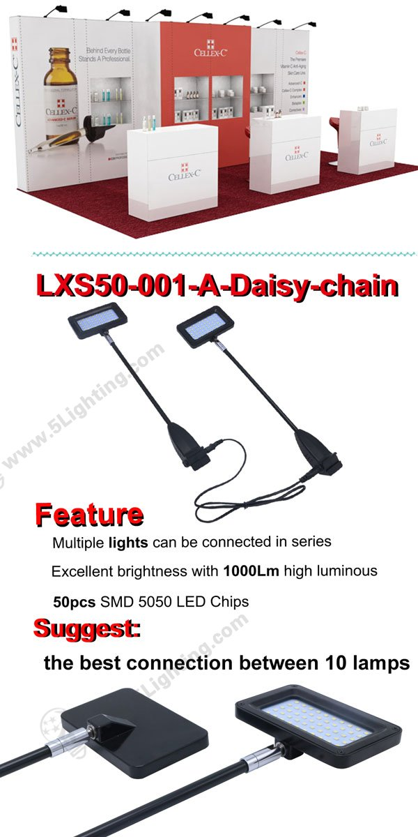 Linkable LED Display Lights for Pop-up / SGE / Octanorm exhibition
