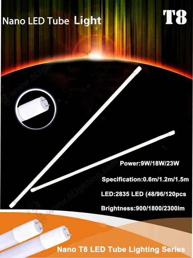 Nano T8 Tube Lighting Series Features