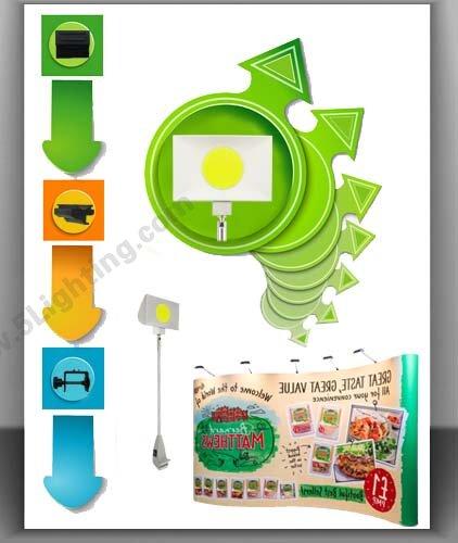 led pop up display lights 30 watts