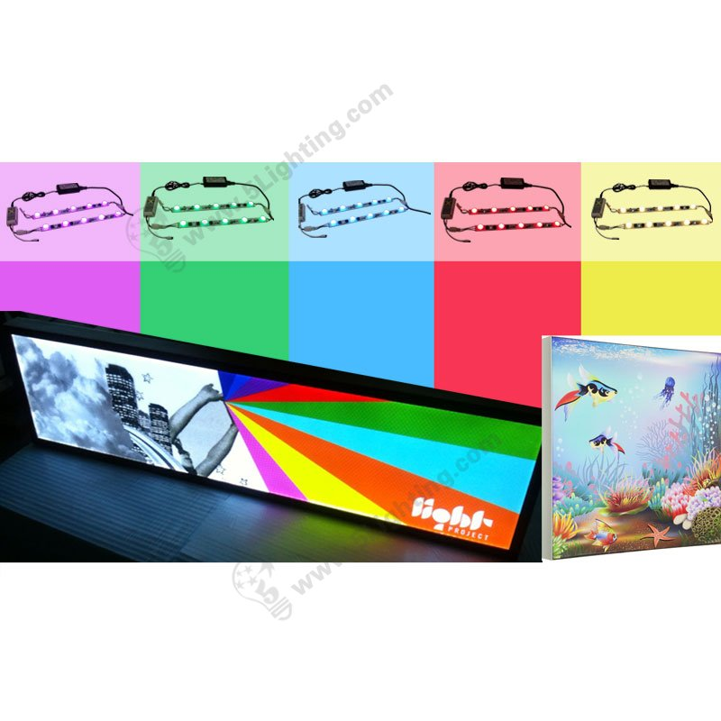 RGB Fabric Light Box edge lit kits