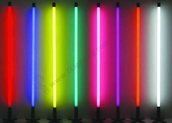 colorful t5 tube lights, red, green, blue , rgb