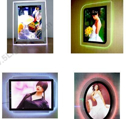 colorful RGB thin crystal light box display shapes