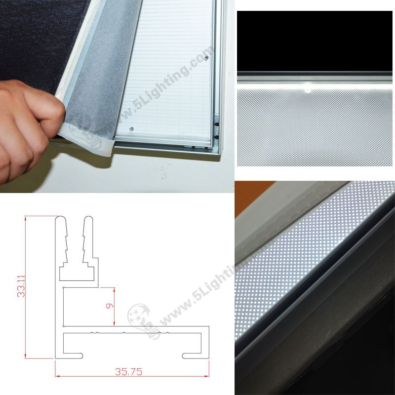 led fabric frameless light boxes, SEG strips