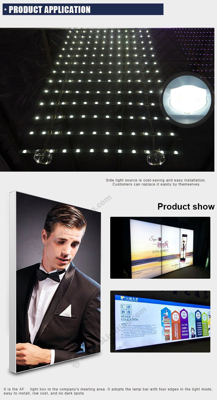 ladder led back lit lighting application