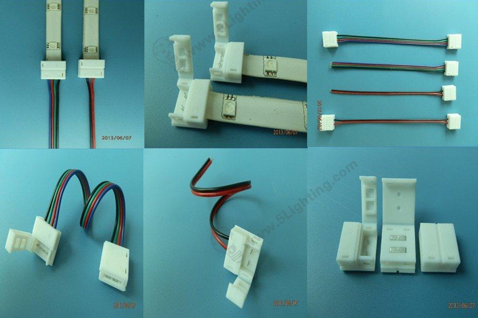 flexible led strip lights connectors