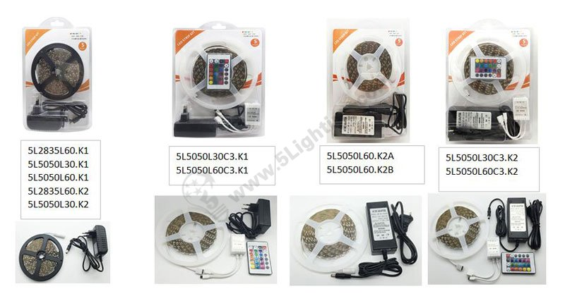 led strip lights Blister Package series