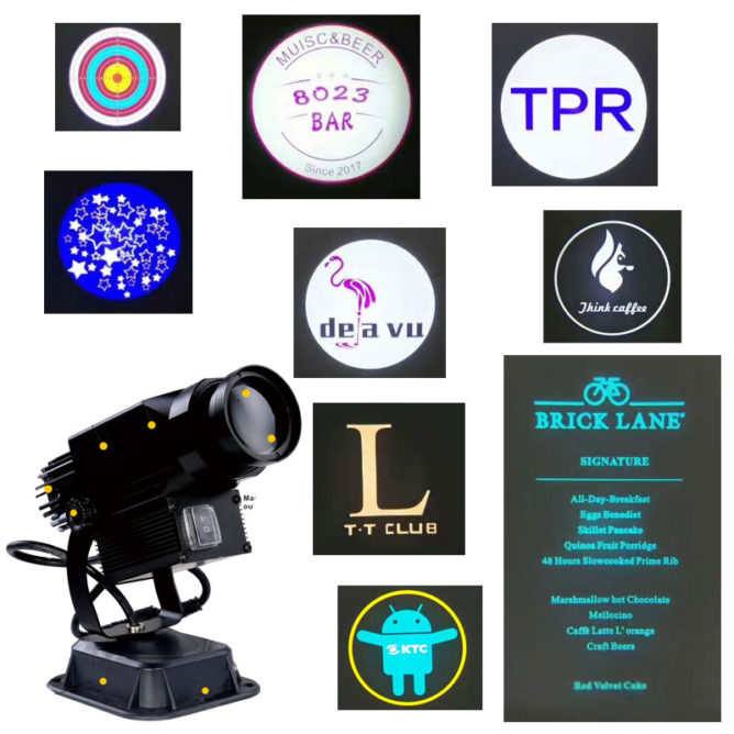 logo projector ceiling lights gobo display