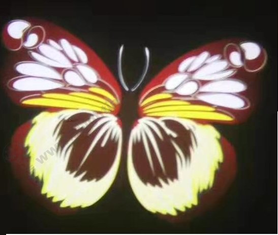 Logo Projector effects -brown butterfly series