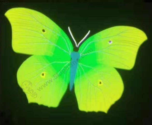 Logo Projector effects - green butterfly series