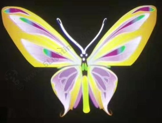 Logo Projector effects - yellow butterfly series