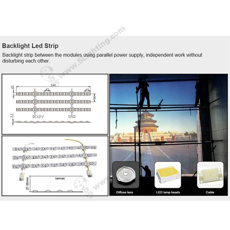 back-lit strip lights for lightbox