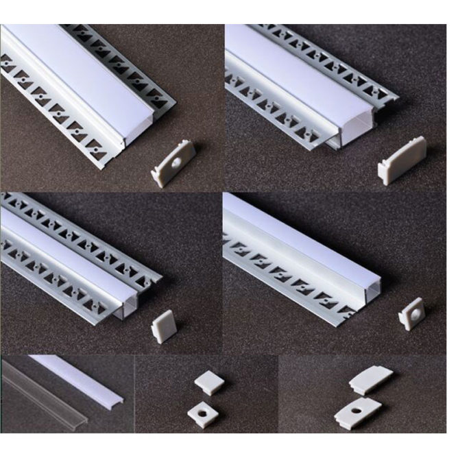 recessed mounted aluminum profile / extrusion / channel for led lights