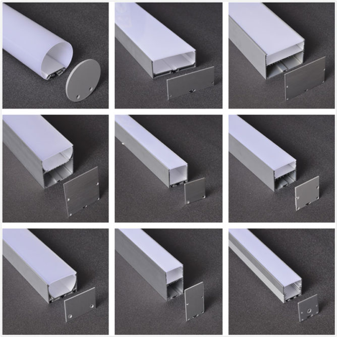suspended mounted aluminum profile / extrusion / channel for led lights