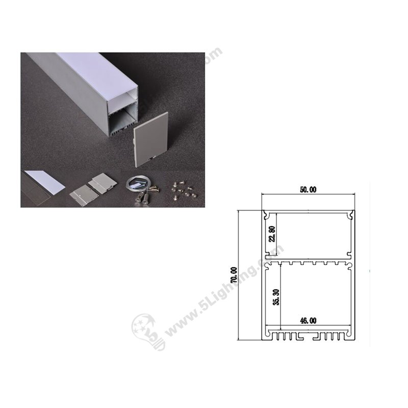 Aluminum Extrusion Channels Profiles For Suspended