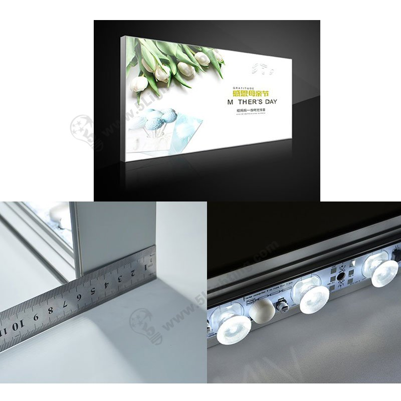 edge lit double sided light boxes