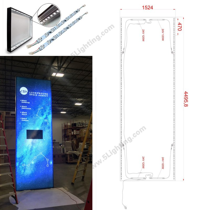 fabric light box led lights