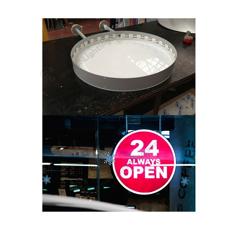 led module edge lighting for signage , 4 W