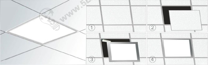 panel led lighting recessed installation