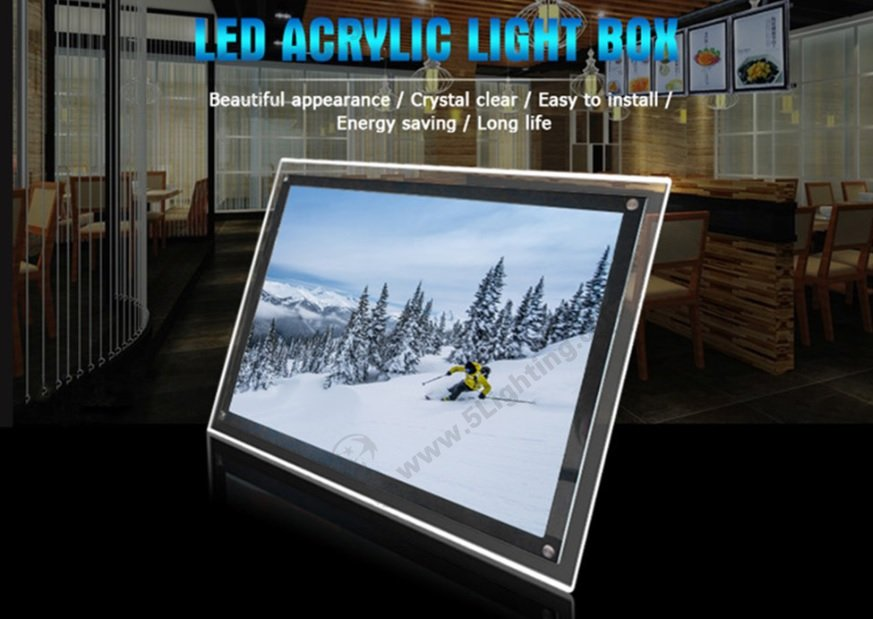 Acrylic LED light box features