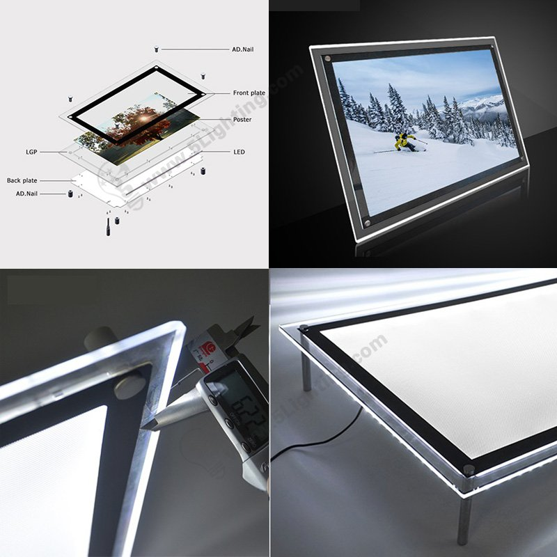 LED acrylic light boxes advantages